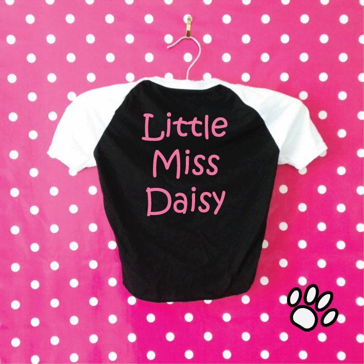 Little Miss Custom Dog T-Shirt. Add Name. Custom Dog Clothes. Personalised Dog Shirt. Personalized Dog T-Shirt. Custom Dog Shirt. by SoPinkUK on Etsy