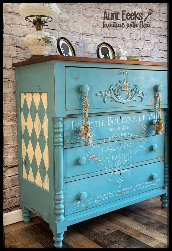 Hand Painted Antique Chest Of Drawers Etsy Antique Furniture For Sale Cheap Outdoor Furniture Painting Wooden