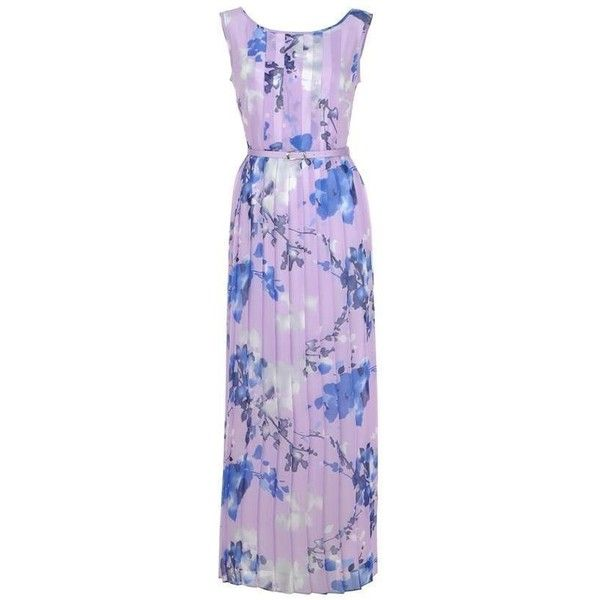 Izabella Lilac Floral Print Maxi Dress. Style ($210) ❤ liked on Polyvore featuring dresses, maxi dress, botanical dress, purple dress, lilac maxi dress and floral print maxi dress