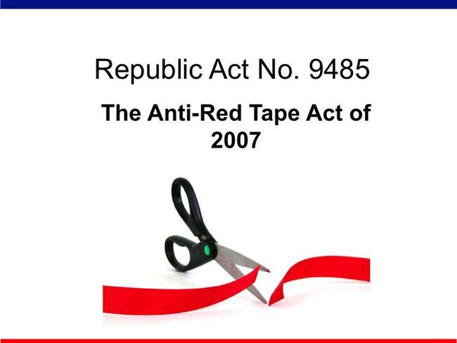 ARTA Law RA 9485