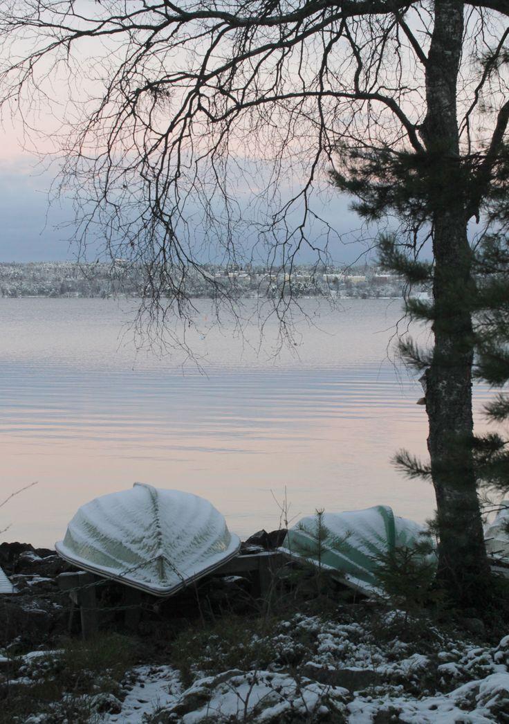 Alkutalven järvimaisema / Early winter landscape