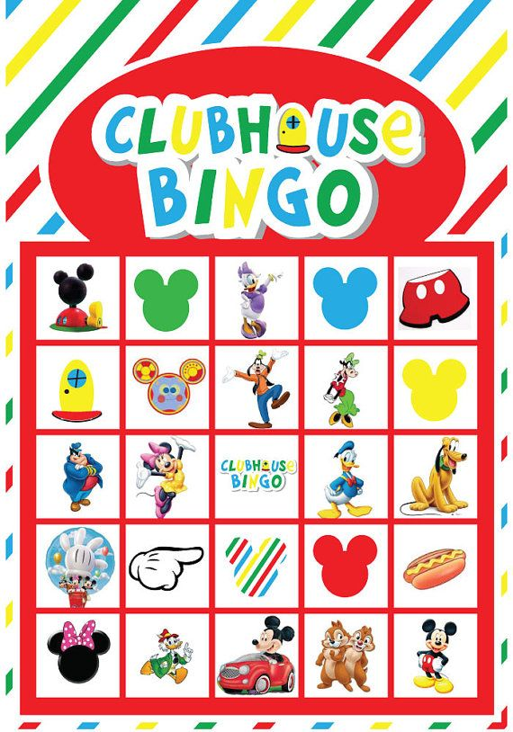Mickey Mouse Clubhouse Bingo Printable Set of by iheartpartyprints