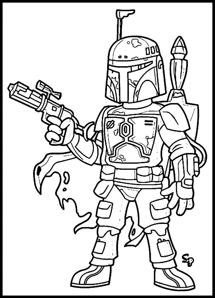 Star_Wars_Boba_Fett Coloring Page Wecoloringpage Star