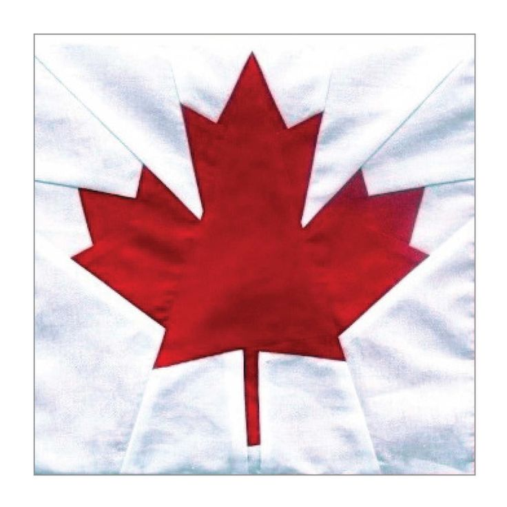Canada Maple Leaf Block Pattern | Celebrate Canada's 150th birthday with this classic paper piecing block!