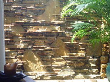 Water wall, waterfall, fountain - contemporary - patio - miami - Waterfalls Fountains & Gardens