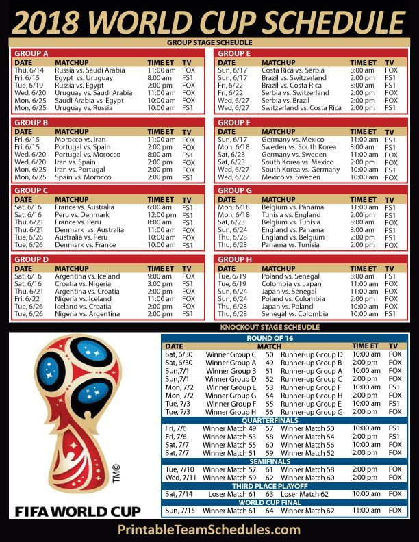photo about Printable World Cup Schedule identified as 2018 FIFA Planet Cup Agenda SBM Life Fifa planet