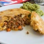 Minced beef and onion pies - A classic British pie and comfort food at it's best with a buttery flaky crust. Best served with mushy peas.
