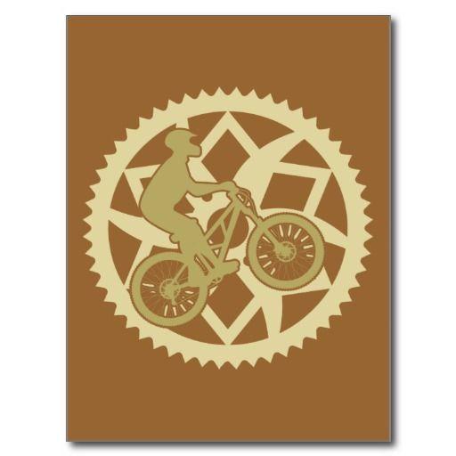 Chainring biker post card