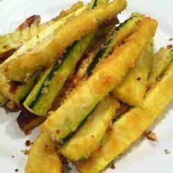 Palitos de abobrinha empanados @ allrecipes.com.br