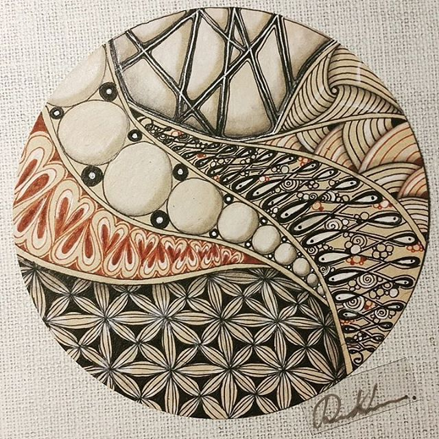 Zentangle 072916. Welcome to visit my FB Page…