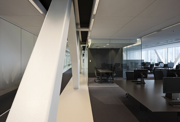 Head Office Lely - DoepelStrijkers  Nature meets high-tech in an inspiring environment where Lely works on groundbreaking innovations for the global agriculture sector. #office #meetingroom #glassbox #blackinterior  www.doepelstrijkers.com