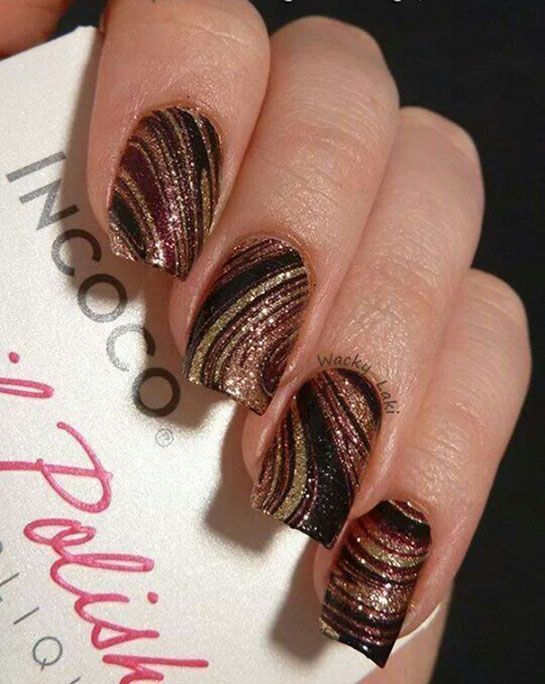 32 Exquisite Brown Nail Designs | Nail Design Ideaz - Page 17
