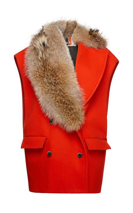 Sleeveless Wool Coat by MSGM for Preorder on Moda Operandi