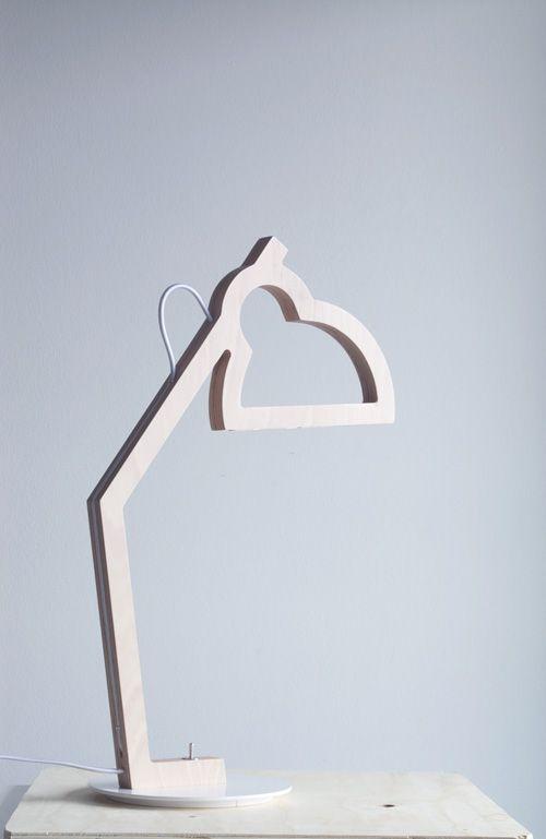 LYSA - Plywood lamp - Led - Design Julie Gasiglia -BÝFLUGA ICELAND