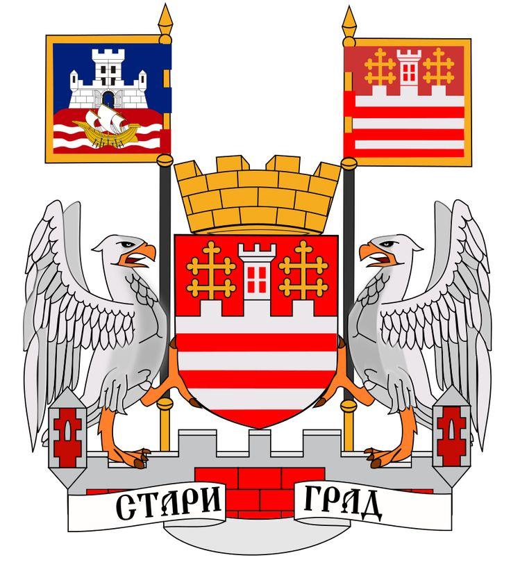 Cot of arms of municipality of Stari Grad (Belgrade)