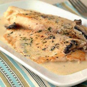 Tilapia in Mustard Cream Sauce - Tasty and easy! This was a big hit!