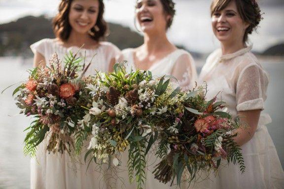 Native Australian bouquets by Merrin Grace   Photography by Bear Deer Fox