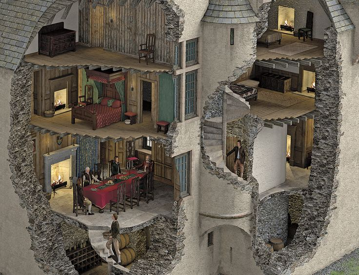 Glenbuchat Castle illustrated historical reconstruction