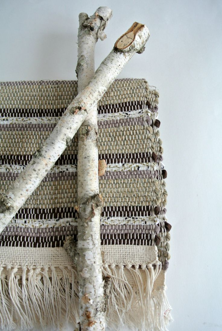 Hand-Woven Rug-Union #36 Rag Rug Loom-Cotton/Cotton Blend Fabric-Mocha Latte by LongTallSallys on Etsy