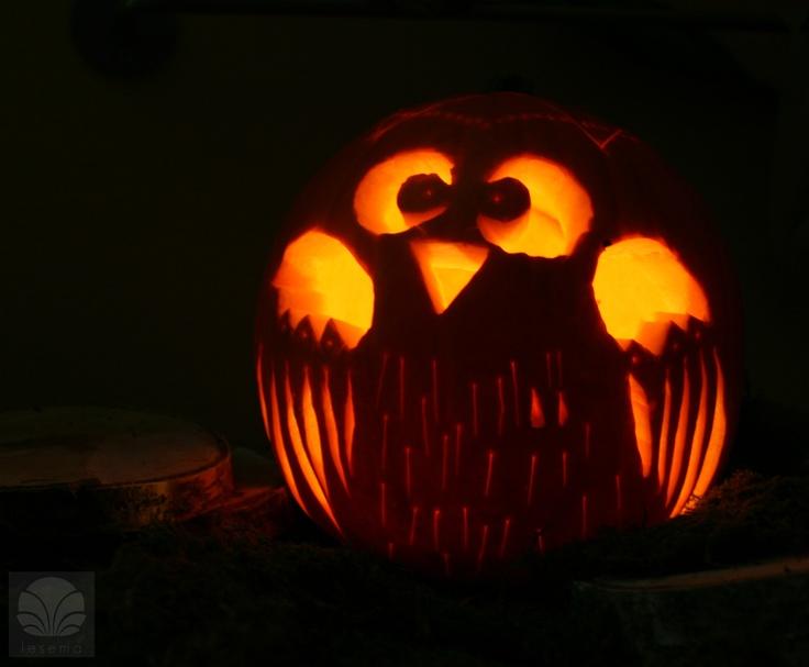 My owl pumpkin owl pumpkin halloween cartoon owls for Spooky owl pumpkin stencil