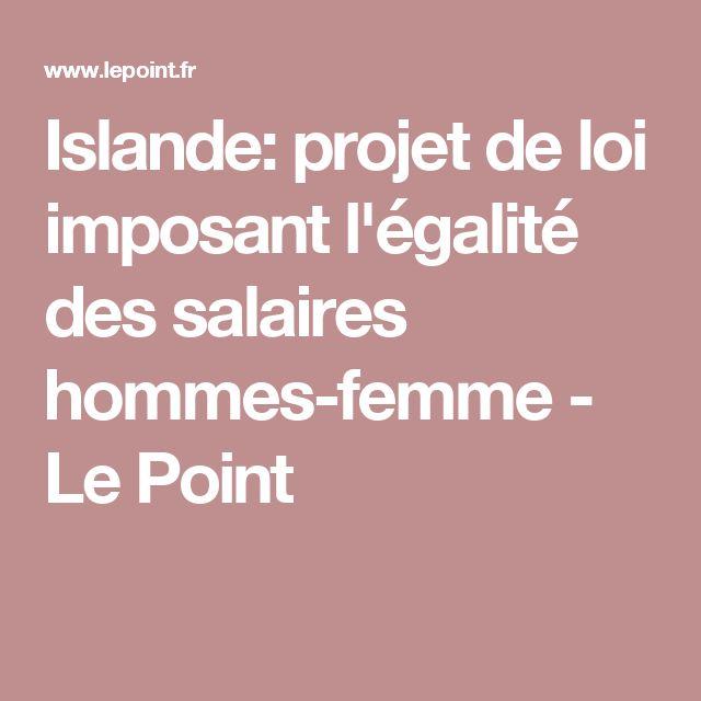 Islande: projet de loi imposant l'égalité des salaires hommes-femme - Le Point