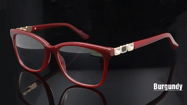 Original Quality Diamond Eyewear Women Hand Made Big Frame Prescription Glasses Brand Designer Eyeglass Frames Women
