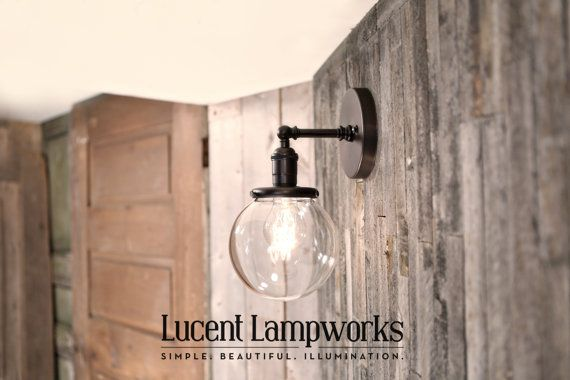 Sconce Lighting with 6 Clear Glass Shade by lucentlampworks