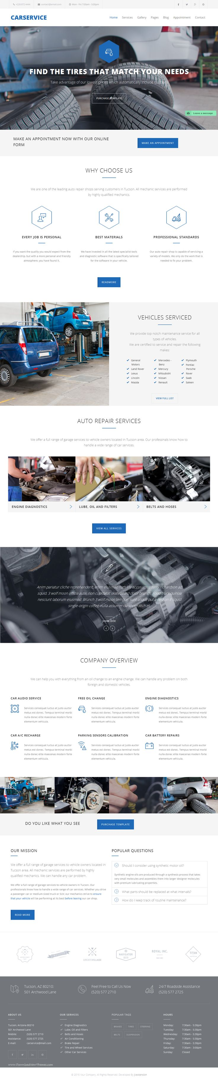 Carservice is a responsive and retina ready #Joomla #Template best suitable for auto mechanic, car repair shop, mechanic #workshop, car repair services, auto painting, auto detailing, tire or wheel shop.