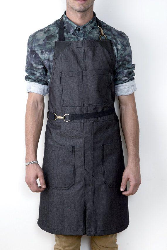 Keine Krawatte  Split-Bein Schürze  Graphit-Jeans  von UnderNYSky