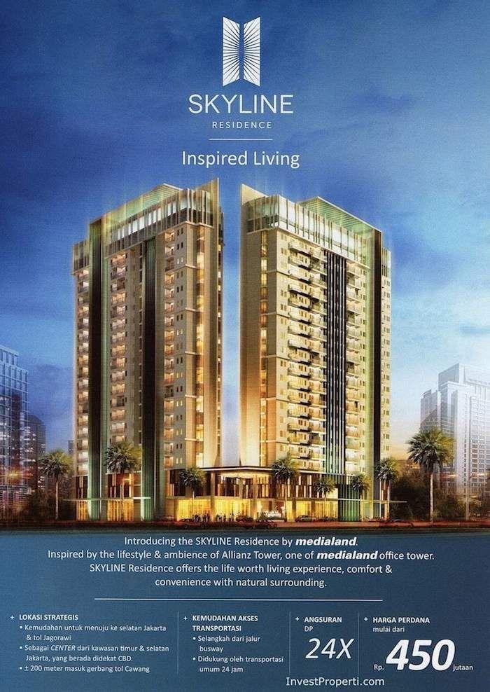 Skyline Residence Apartemen Cawang Flyer 2013
