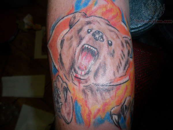 Color Chicago Bears Tattoo