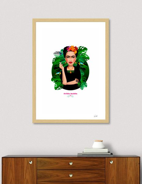 Discover «Frida Kahlo», Numbered Edition Fine Art Print by Pia Kolle - From 18€ - Curioos