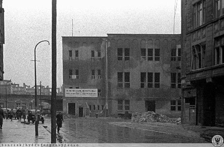 Ulica Zapolskiej w latach 40 tych.
