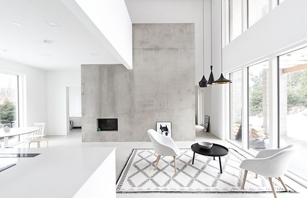 A beautifully simple, graphical home in Finland. Maja / Musta Ovi.