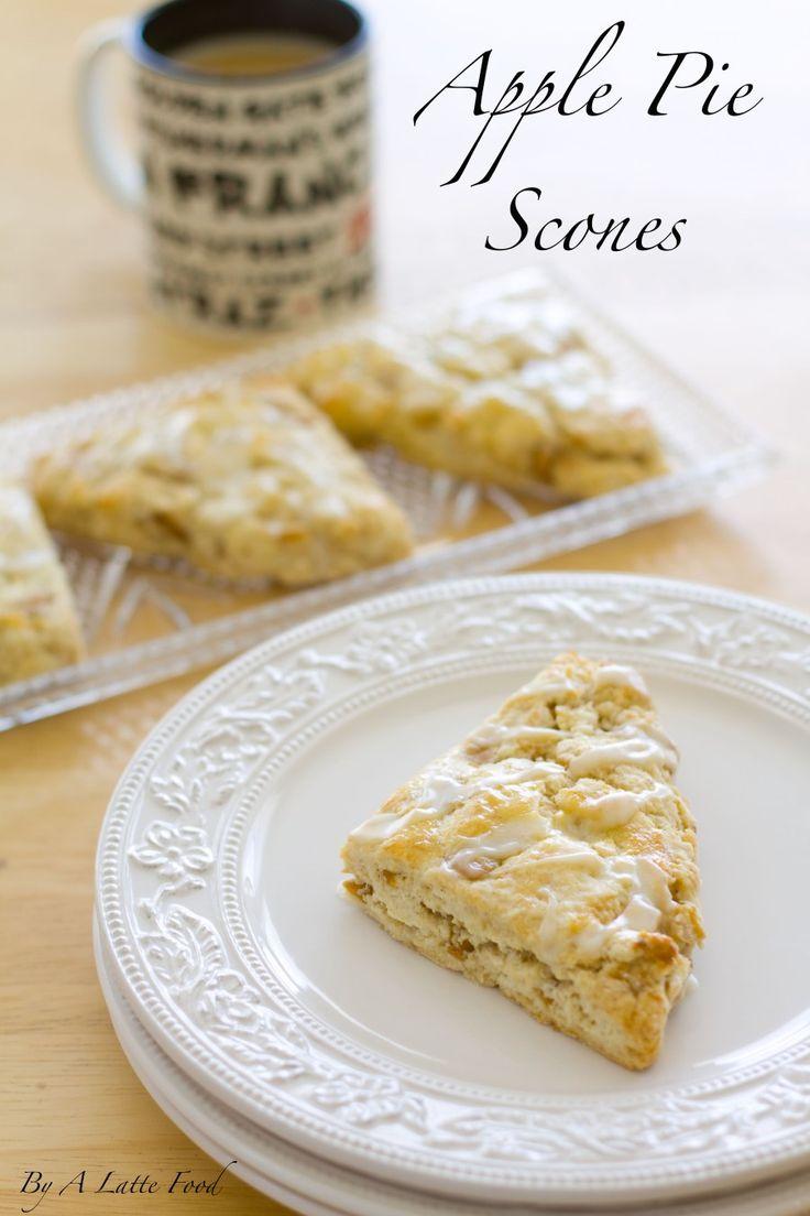 Peach Pie Scones with a Vanilla Glaze | Recipe | Vanilla, Apple pies ...