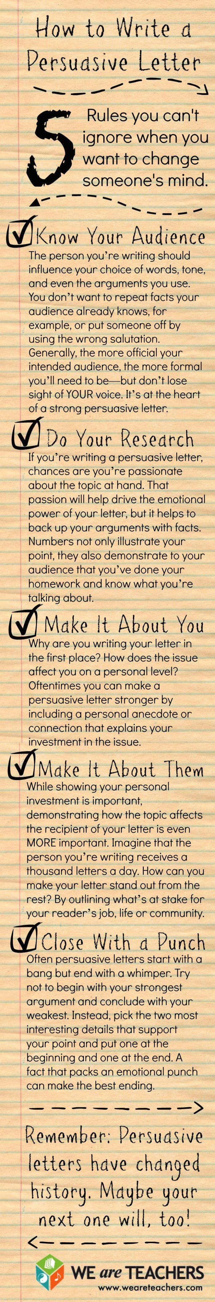 Persuasive Letter Writing Tips