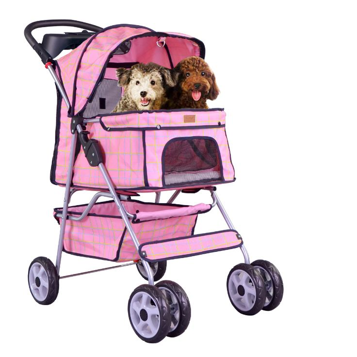 2016 Transportin Perro Bestpet Four Wheel Pet Stroller, For Cat, Dog And More, Foldable Carrier Strolling Cart, Multiple Colors