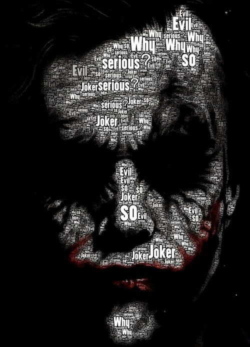 The Joker .. The Dark Knight