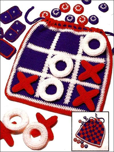 Fun And Games Bag By Sharon Volkman - Free Crochet Pattern With Website Registration - (free-crochet)
