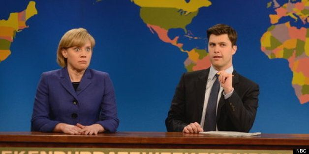 Frau Angela returns to SNL to talk about email, boob touches, and Putin.