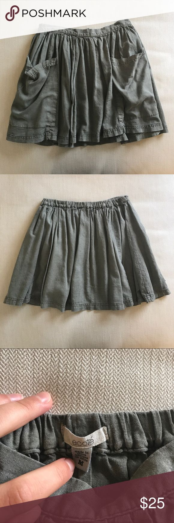 Urban Outfitters army green skirt UO army green pocket skirt. Worn a few times but still in original condition. Willing to negotiate on price Urban Outfitters Skirts Mini