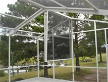 Screen Pool Enclosure With Easy Drop Down Panels For Ice And Snow. This  Enclosure Was Built By The All Weather Pool U0026 Patio Team In South Carolina.