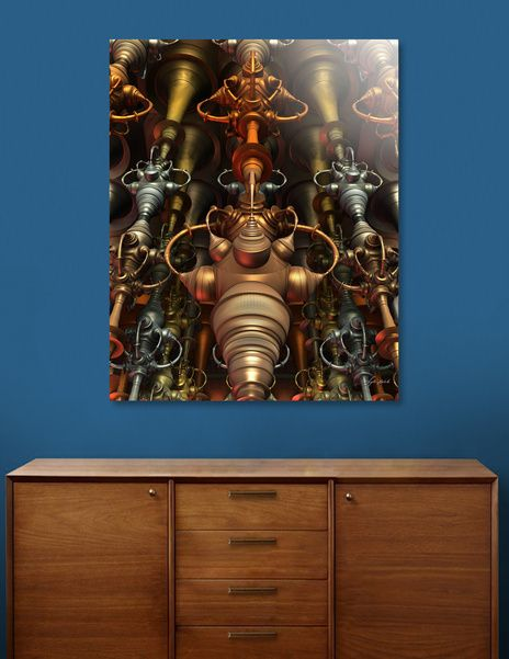 Discover «Benny and the Jet Engines», Limited Edition Aluminum Print by Lyle Hatch - From $99 - Curioos