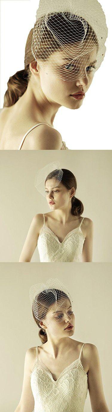 Vintage Birdcage Veil with Crystal - Bridal Wedding Netting Comb