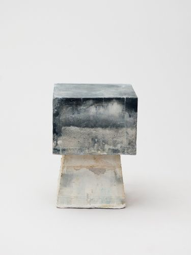Kueng Caputo: Sand Chair, 2012  Pigment colored sand-mortel mixture  17 × 12 × 12 inches (43 × 30 × 30 cm)