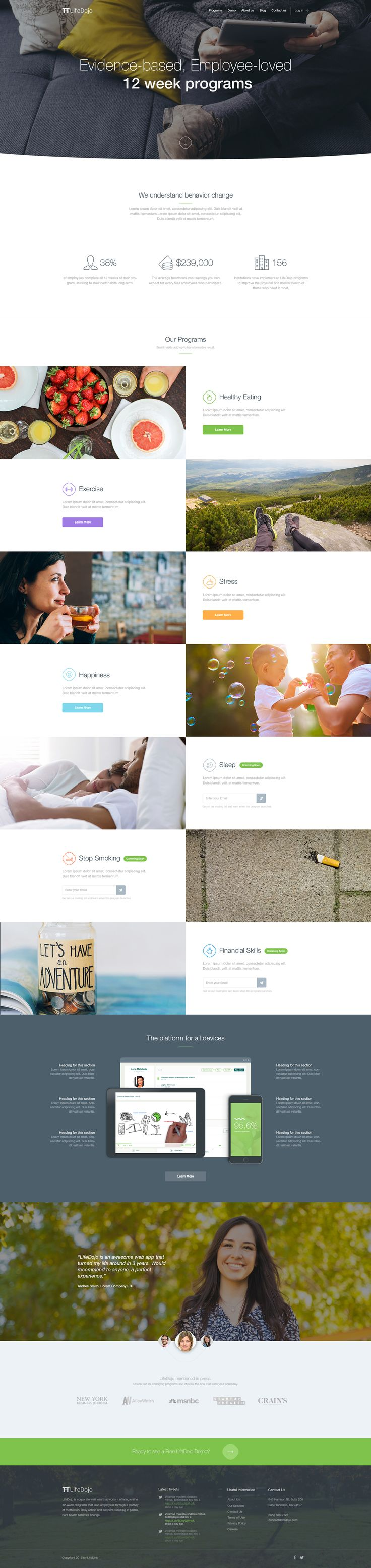 41 best Home Page images on Pinterest | Design web, Design websites ...