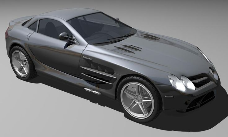 Mercedes SLR - Render - 3D Graphic Software: Maya - Mental Ray
