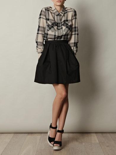 Carven skirt: Wedges Heels, Style Inspiration, Pouffi Skirts, Style Lust, Cotton Skirts, Cute Skirts, Apparel, Skirts Not, Carven Skirts