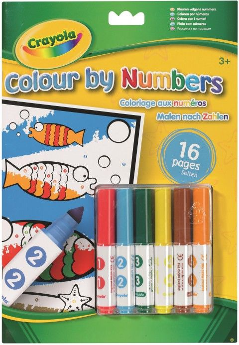 Crayola Color by Number -  Kleuren met nummers