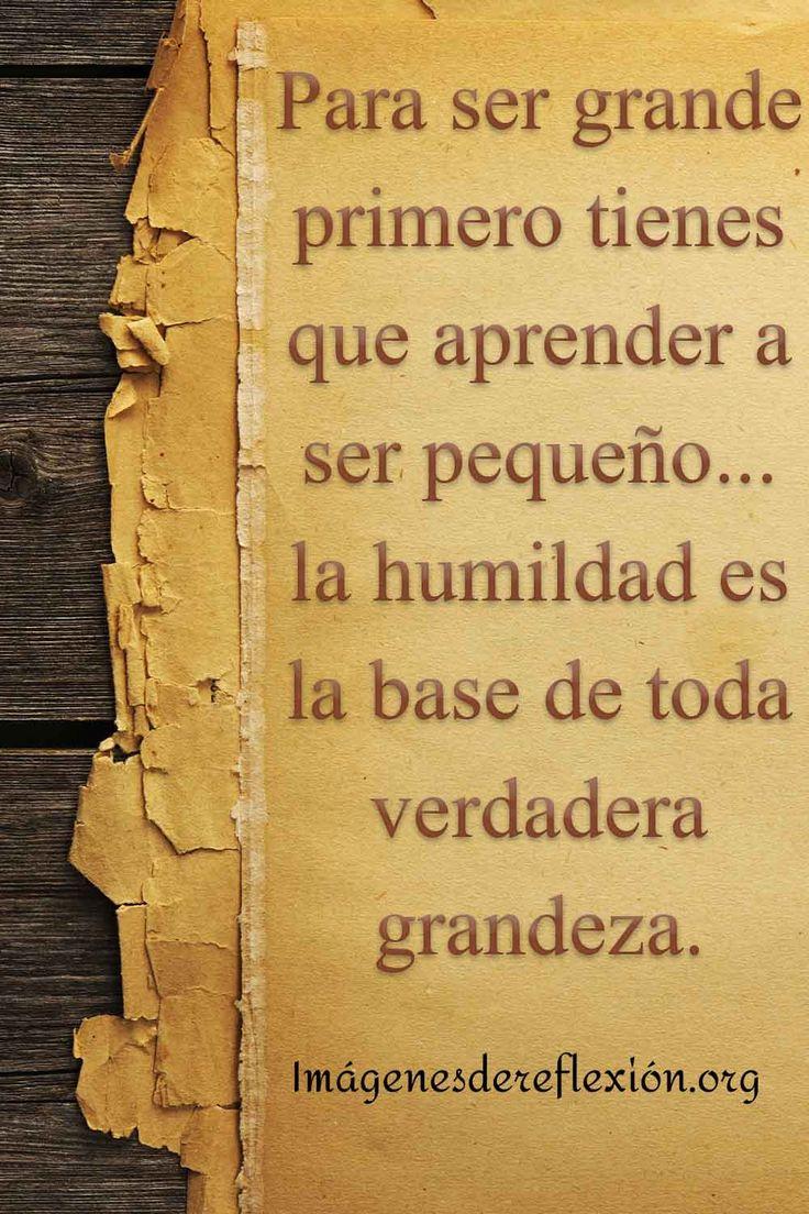 Para ser grande primero tienes que aprender a ser pequeño... la humildad es la ase de toda grandeza. Grande, Videos, Pretty Quotes, Humility, Good Day Quotes, Good Morning Greetings, Good Morning